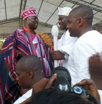 ...As Gov. Fayose Welcomes The Ooni of Ife, The Ojaja 1 To Ekiti State Today