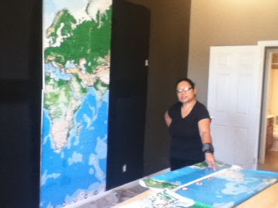 Mural, World Map Mural, Play Room, office, library/den, wallpaper hanger, wallcovering installer, tnwallpaperhanger,magnetic primer