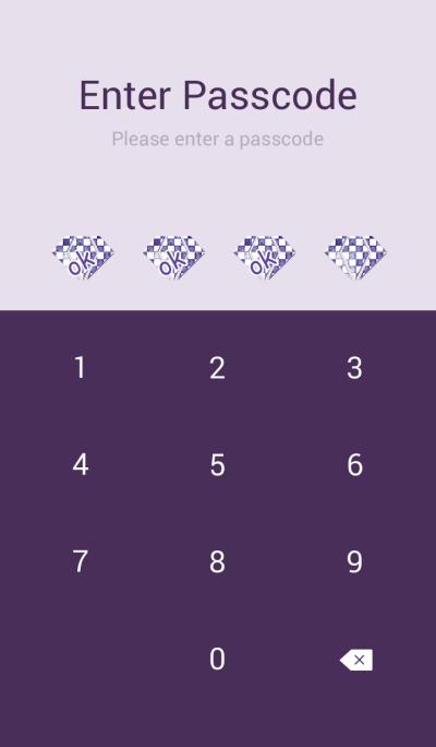 Purple dyed diamond