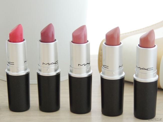 collection rouges a levres mac swatchs swatch
