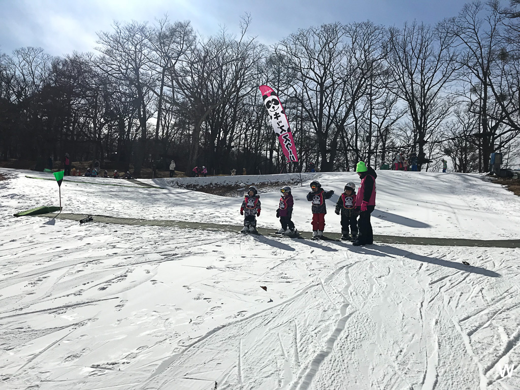 hats off to the instructors who literally bent over backwards for the kids they guided them down the slope backwards carried them back up after they land
