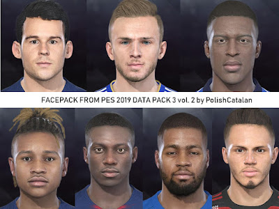 PES 2018 Faces Converted v2 From PES 2019 by PolishCatalan