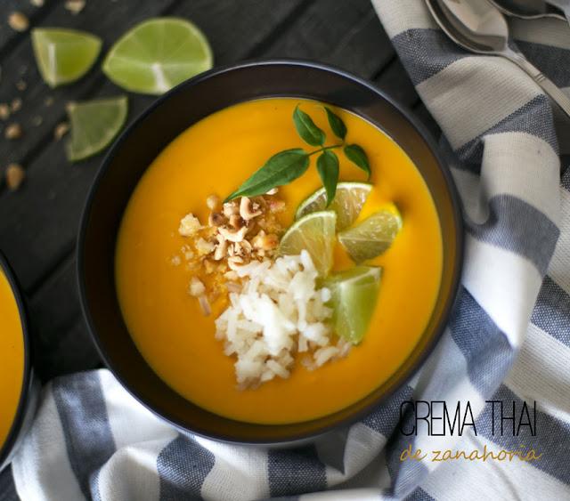 Crema Thai de zanahoria y batata