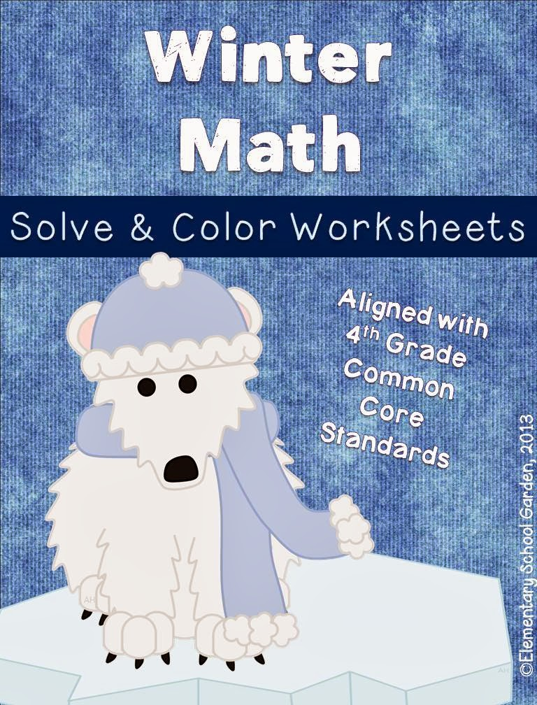 elementary school garden enter to win a pack of my new winter solve check math worksheets. Black Bedroom Furniture Sets. Home Design Ideas