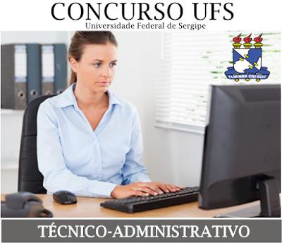 edital Concurso Público UFS 2018 Técnico Administrativo
