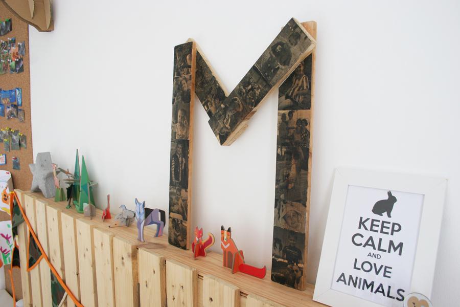 DEF Deco - Decorar en familia: Diy letra de madera con fotos1