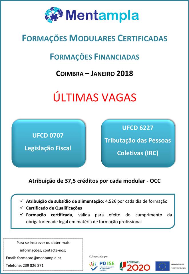 Formações financiadas Coimbra 2018