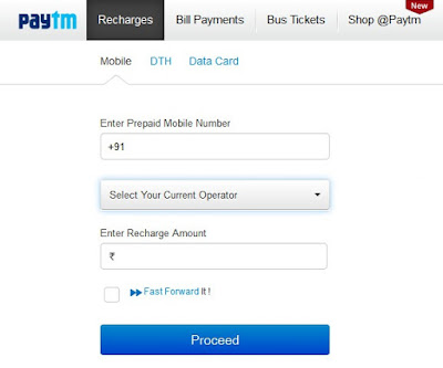 paytm mobile recharge