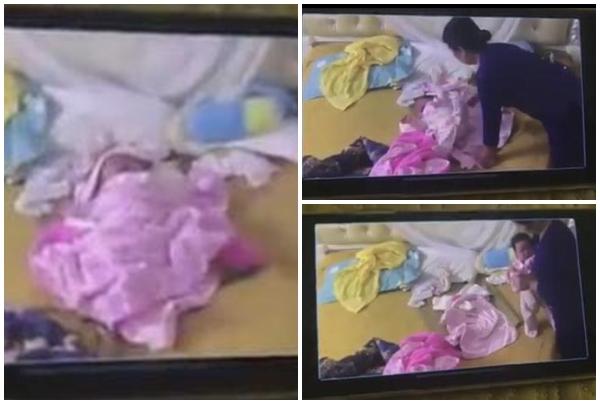 Clip bé 1 tháng tuổi bị bạo hành da man