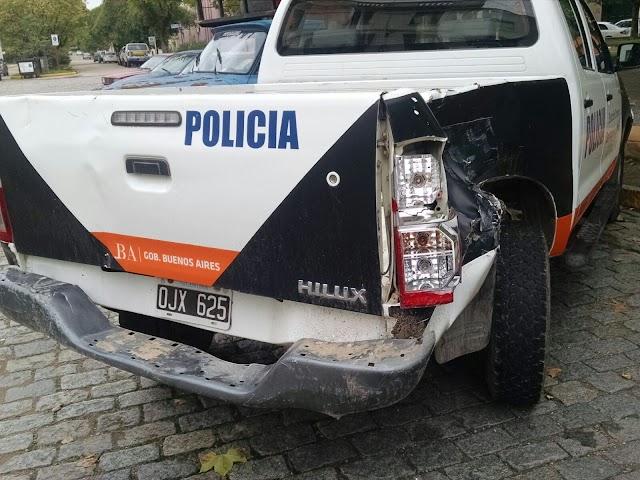ACCIDENTE DE TRANSITO INVOLUCRO A UN PATRULLERO EN ARECO