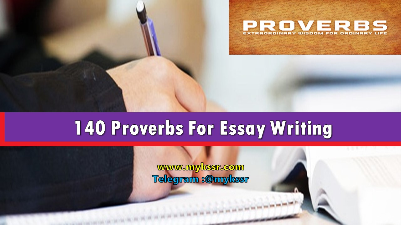 proverbs for essays  proverbs for essays