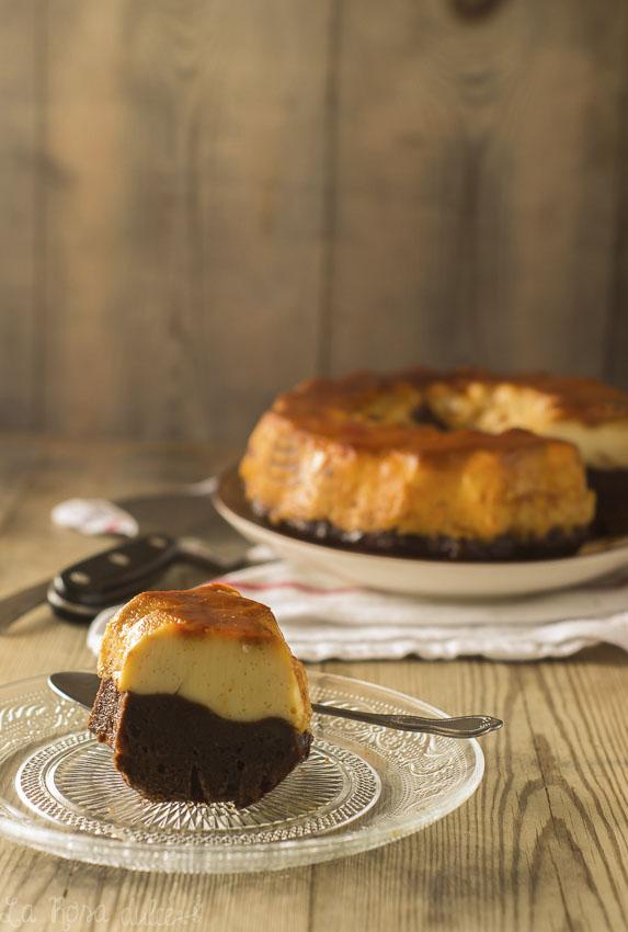 Bizcoflan o pastel imposible sin lactosa- La Rosa Dulce