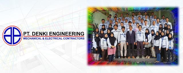 Lowongan Kerja SMA SMK D3 S1 PT. Denki Engineering, Jobs: Mechanical Engineering, Supervisor Budget Control.