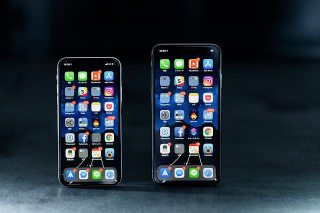 アプリケーションが並んだスマートフォン