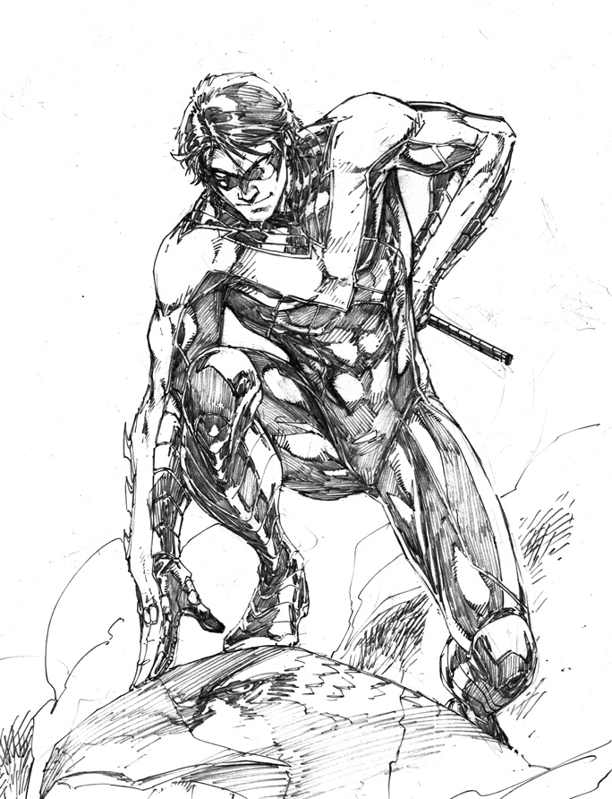 dc comics nightwing coloring pages - photo#8
