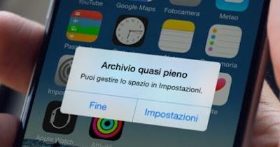 Aumentare memoria iPhone