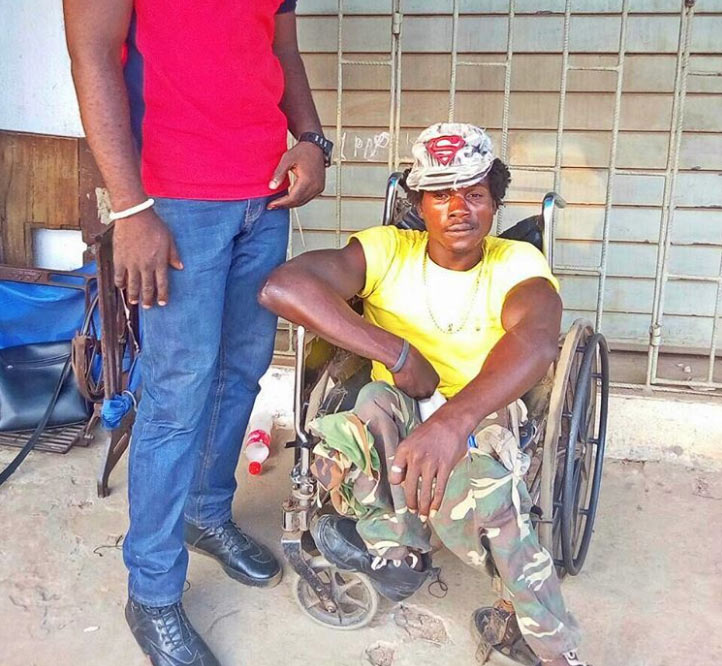 Disabled man brutalized by two soldiers located