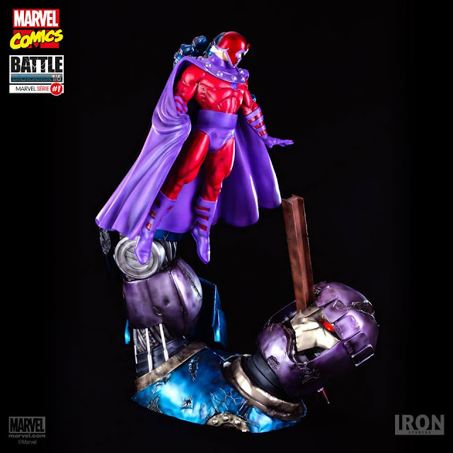 Diorama Magneto e Sentinela Iron Studios
