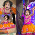 Baby in Pink Orange Lehenga