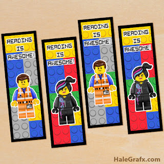 Lego Movie Free Printable Bookmarks.