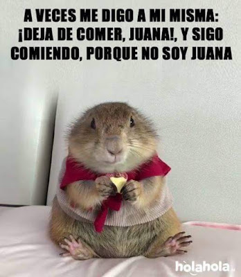 A veces me digo a mí misma,deja de comer, Juana, y sigo comiendo porque no soy Juana