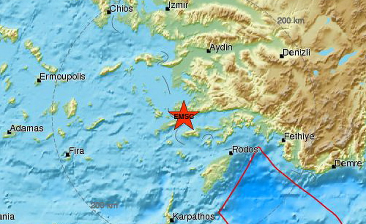 Ισχυρός σεισμός 6,7 Ρίχτερ στα Δωδεκάνησα
