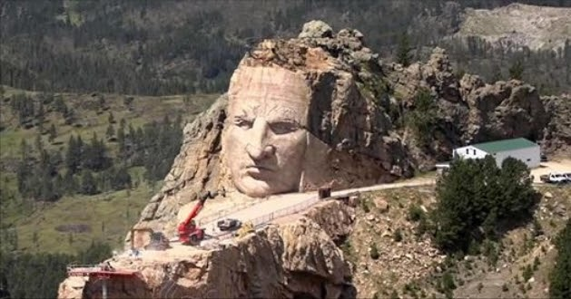 Monument Of Native American Hero 'Crazy Horse' Slowly Takes Shape In South Dakota