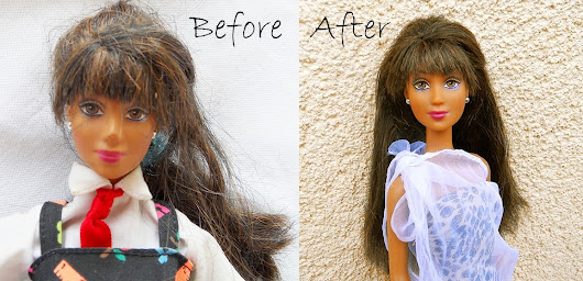Detangle and wash doll hair