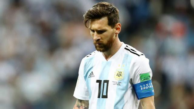 Lionel Messi saat laga Grup D Piala Dunia 2018, Argentina vs Kroasia