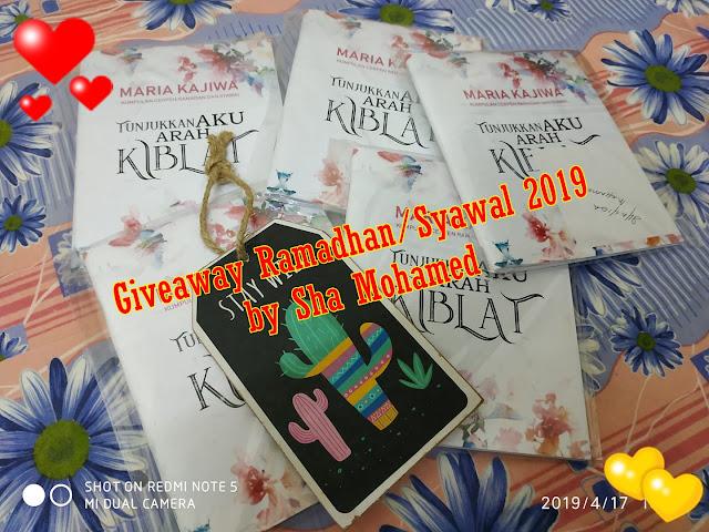 """""""Giveaway Ramadhan/Syawal 2019 oleh Sha Mohamed""""."""