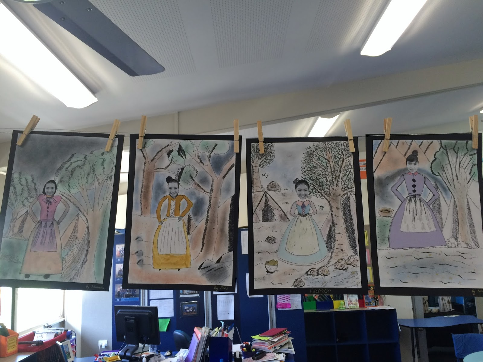 Art With Mrs Baker Grade 5 Gold Rush Artworks