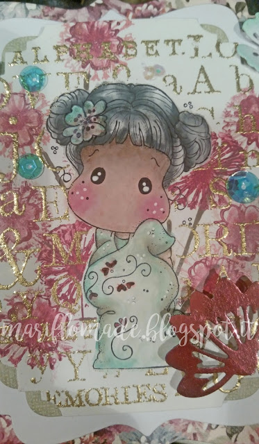 magnolia stamp, tida, distress ink, versamagic , card , scrapbooking