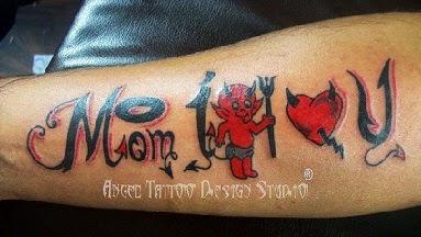 Cute Devil Tattoo Designs,Mom I Love You Tattoo Designs