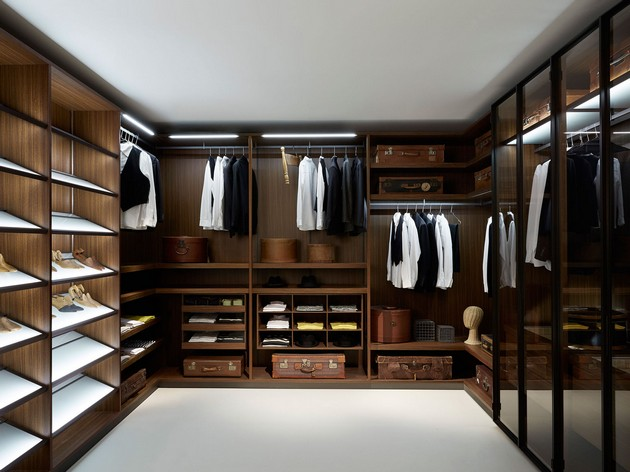 Okay, This Closet/dressing Room Looks Like Something Out Of A Designer  Store. Love The Rich Wood Tones And Vintage Suitcases To Accent The Space.