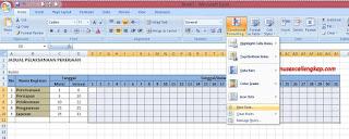 cara 1 membuat jadual kegiatan dengan conditional formatting
