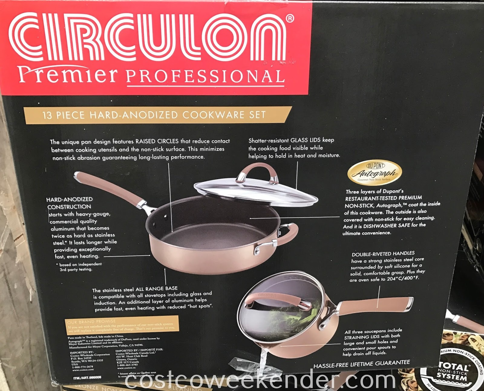 Costco 986008 - Circulon 13 piece Hard-Anodized Cookware Set: great for any chef or home cook