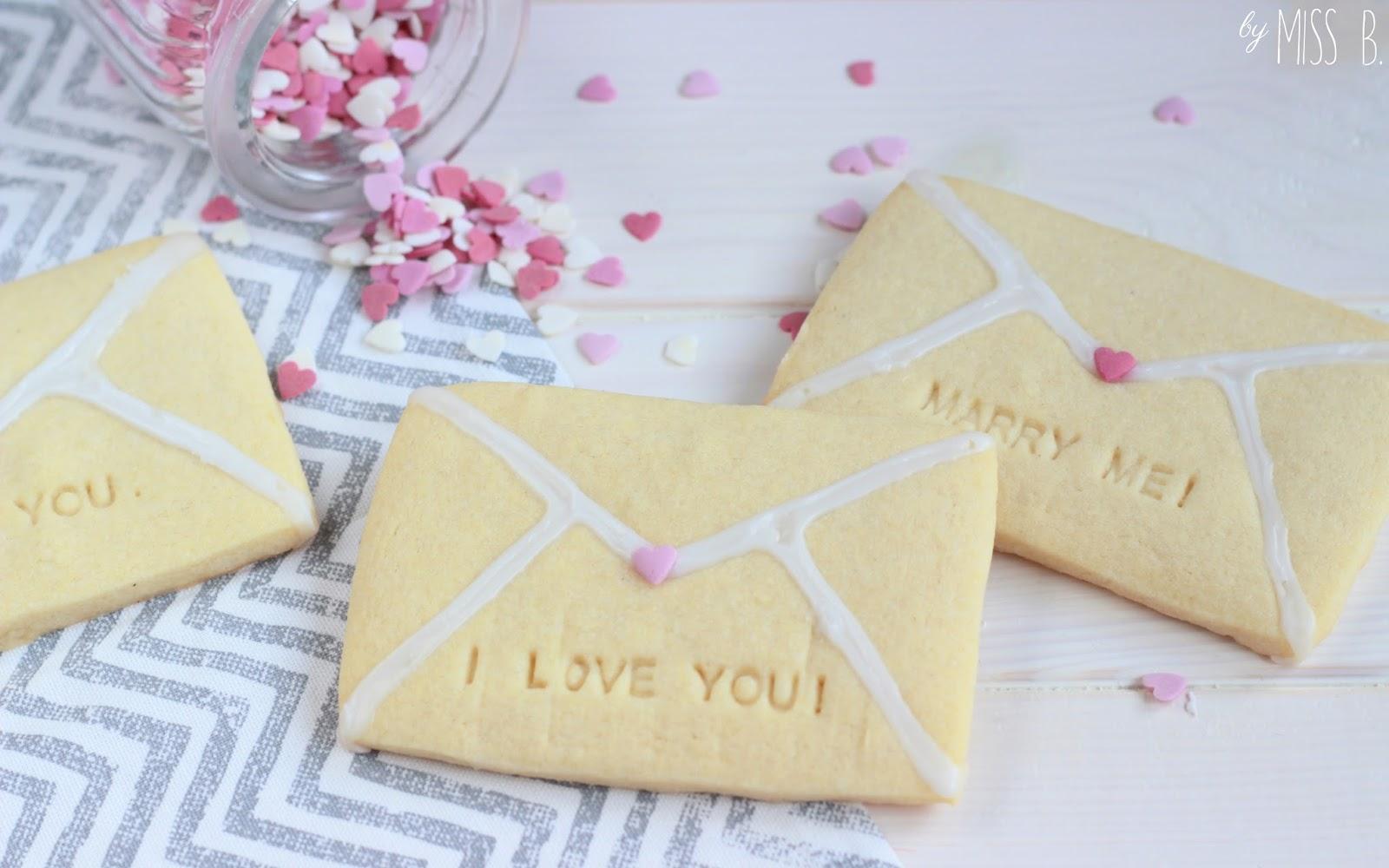 Valentinstag: Süße Liebesbrief-Kekse
