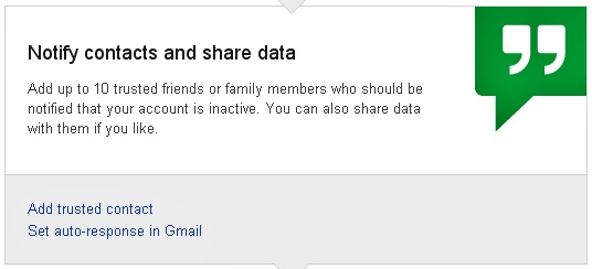 Notify contacts and share data