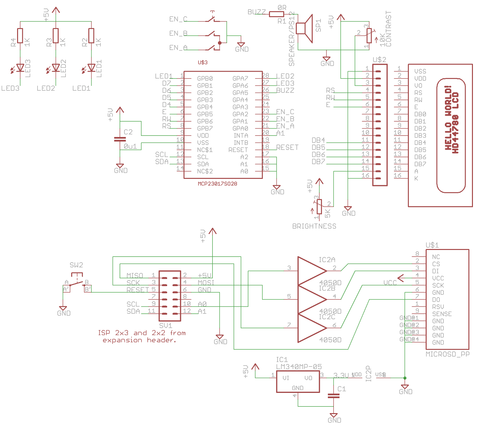 Think3dPrint3d: I2C port expander driving an LCD screen