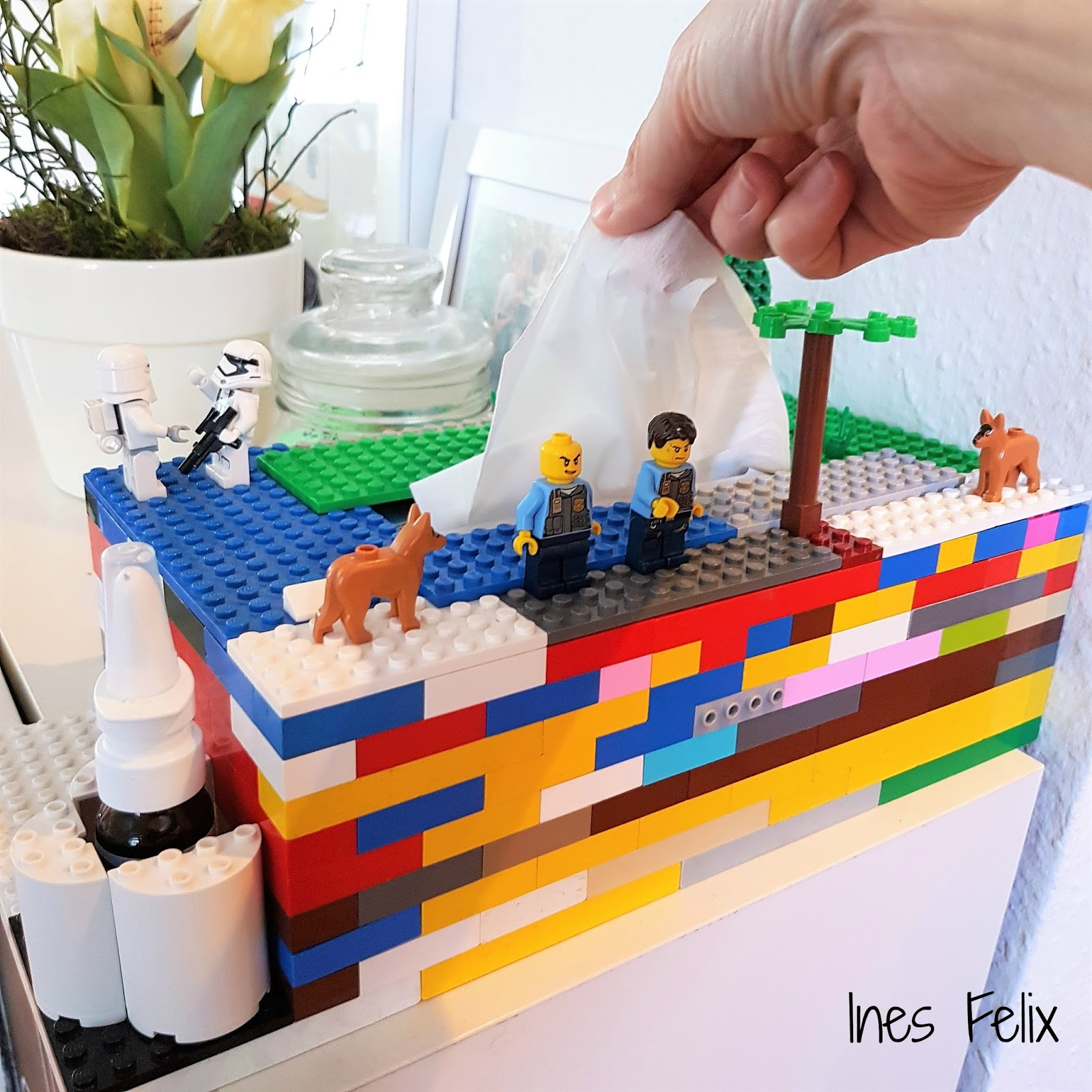 ines felix kreatives zum nachmachen lego taschentuchbox. Black Bedroom Furniture Sets. Home Design Ideas