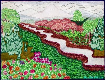 Scenery, pemandangan. Pen & Pencil Draws - Gambar Penuh Imajinasi