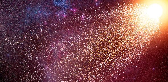 Artist's impression of a runaway star  Credit: Amanda Smith, Institute of Astronomy  Artist's impression of a runaway star Credit: Amanda Smith, Institute of Astronomy