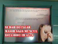 Error Code Canon IR4570 Error code#E024