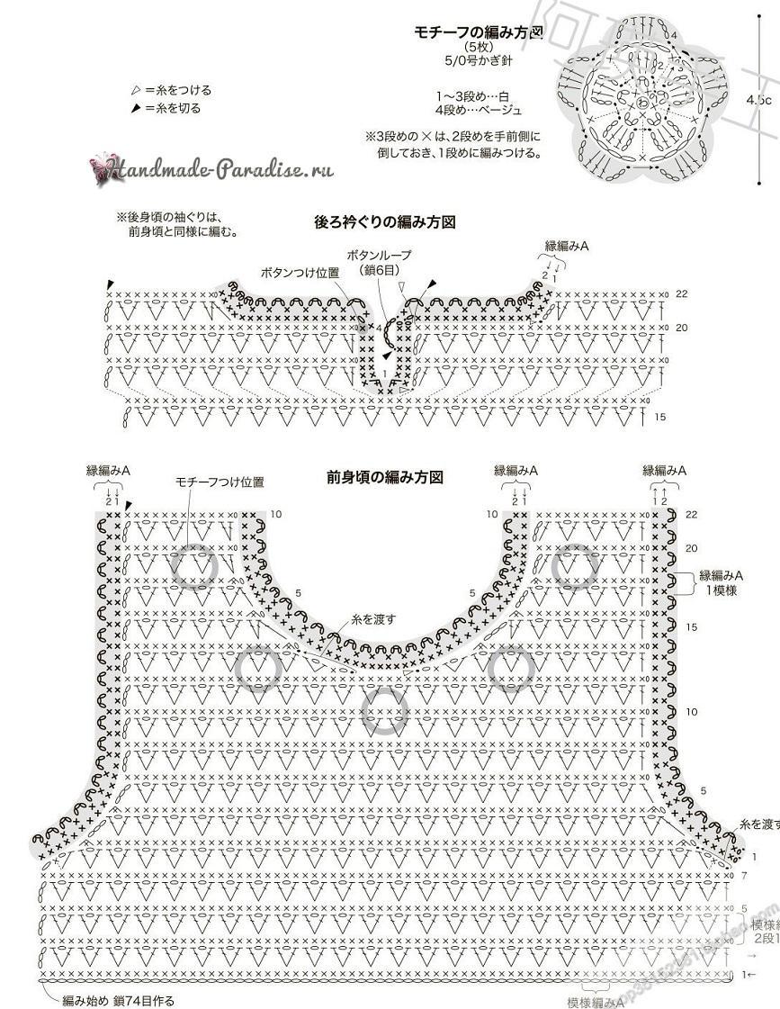 Схемы вязания крючком сарафана для девочки (3)
