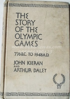 Buku The Story of the Olympic Games tahun 1948. bahasa Inggis . tebal 392 halaman.harga 150.000 minat hub 085866230123