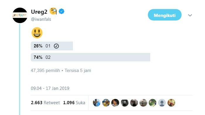 Iwan Fals Kaget Lihat Respon Polling Paska Debat Pilpres 2019: Nah Lo 01 Ketinggalan Jauh