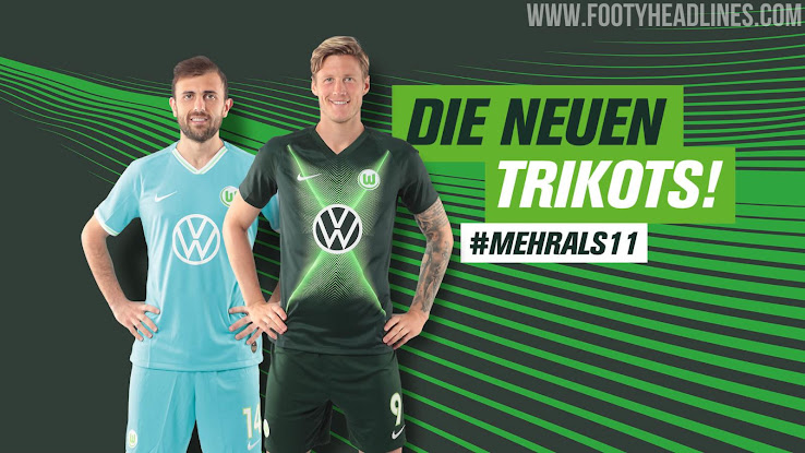 various colors c1d56 6a117 New VW Logo: Nike Wolfsburg 19-20 Home & Away Kits Released ...