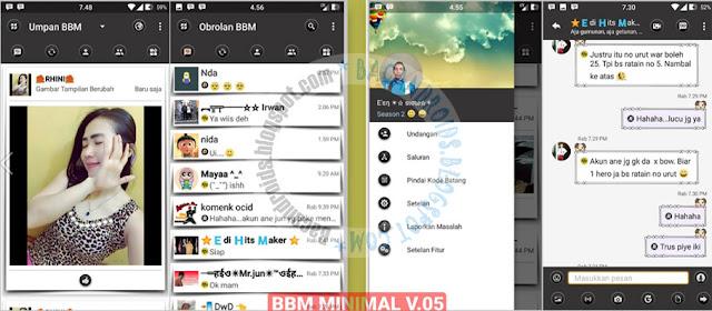 BBM Mod Minimal Theme v05 Base Versi 3.1.0.13 APk Terbaru Clone Unclone