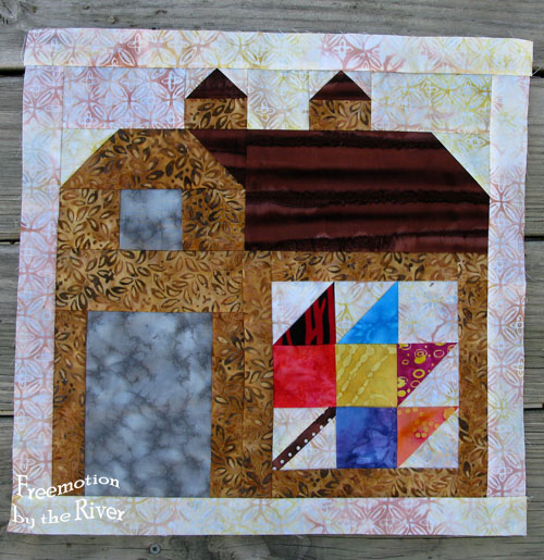 Batik Barn 5 for Quilty Barn Along at Freemotion by the River