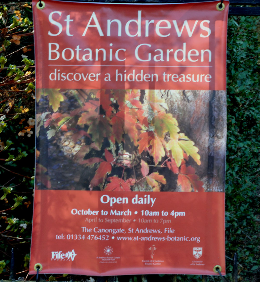 North Fife: St Andrews Botanic Gardens North Fife